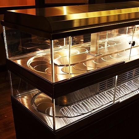 Référence de type-Convoyeur à chaîne Sushi Système chaud et froid - Système chaud et froid de convoyeur à chaîne de sushi