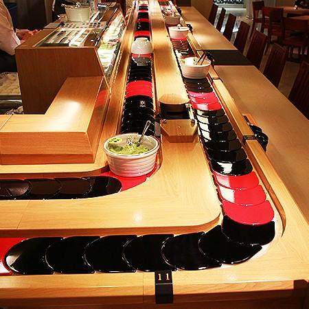 Référence de type-Convoyeur à chaîne à sushi Styles à un étage - Styles à un seul étage de convoyeur à chaîne de sushi