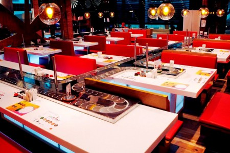 Sushi Chain Conveyor Single Deck Styles(YO! Sushi)