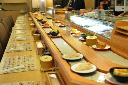 Sushi Chain Conveyor Single Deck Styles details