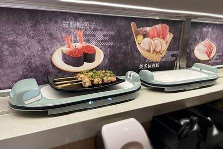 轉彎式智能造型送餐車