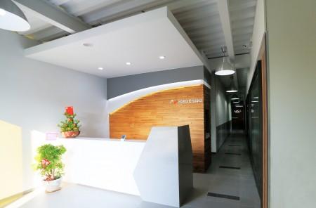 台湾鴻匠科技会社のレセプションホール