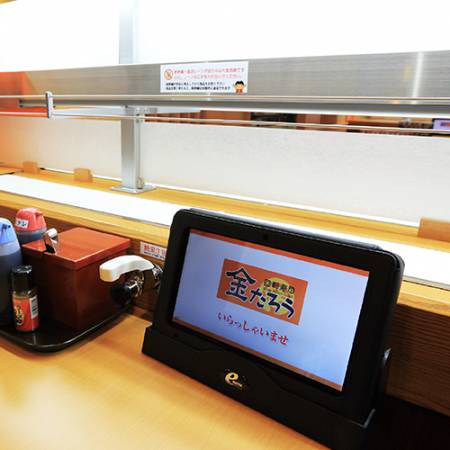 The High Speed Sushi Train and Tablet ordering system.