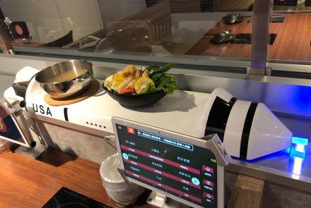 automatisierte Rakete für die Lebensmittellieferung