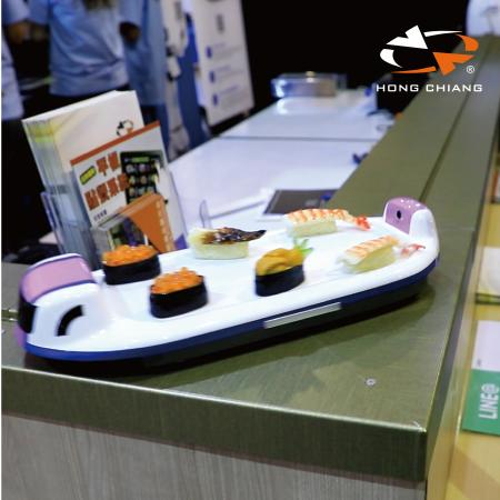 High Speed ​​Sushi Train & Food Delivery System (Turnable Type) - Turnable Sushi Train