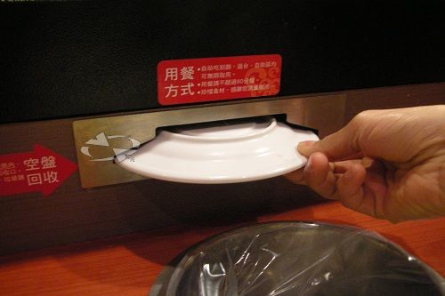The System collect the plates after eating