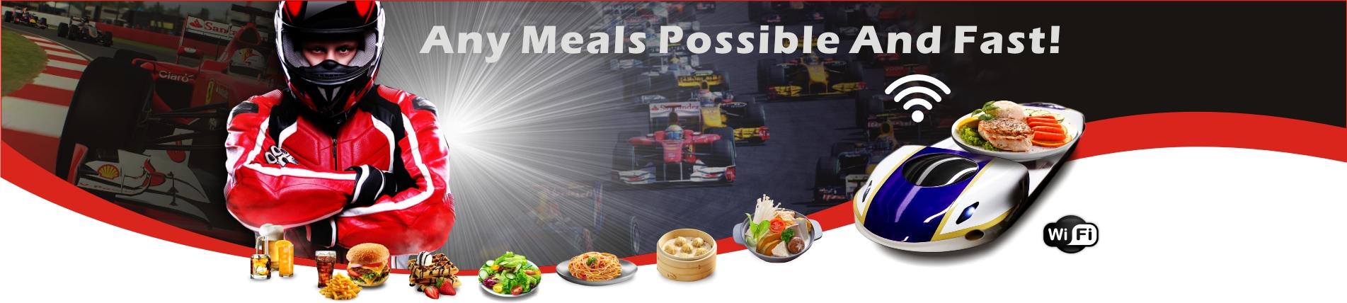 楽しいスマートな食事の配達食事を正確に配達することができます