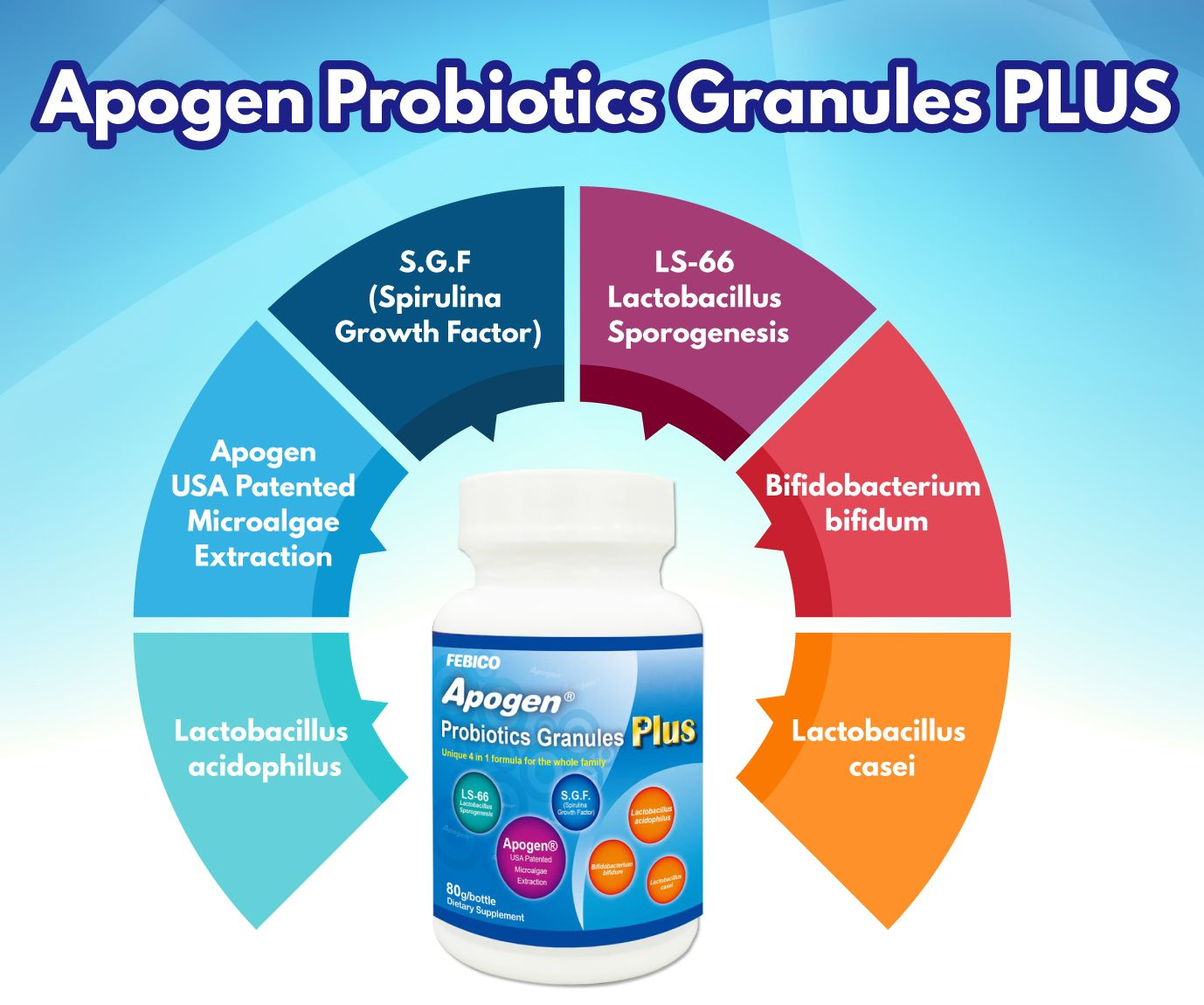Apogen® Lactobacillus Sporogenes Probiotici Più - Apogen Probiotici Lista degli ingredienti