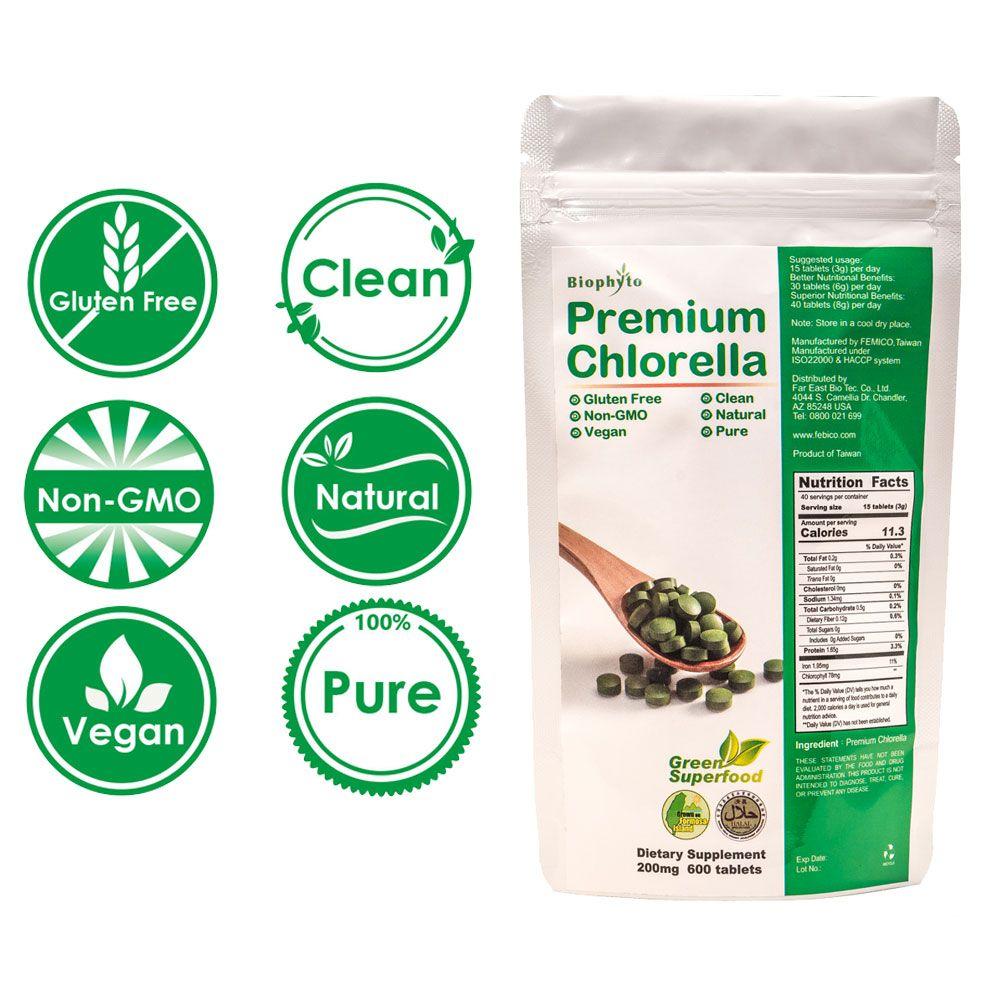 Tablete Biophyto® Premium Chlorella - Tablete Premium Chlorella