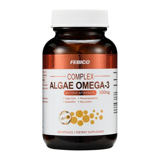 DHA Algae Omega-3 Capsules - FEBICO Vegetable DHA Algae Oil Capsule