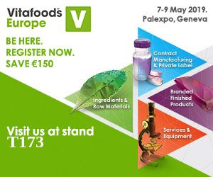 Benvenuto in Vitafoods Europe 2019