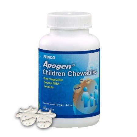Apogen® Dětské žvýkačky - Spirulina Extract Imunitní podpora dětí