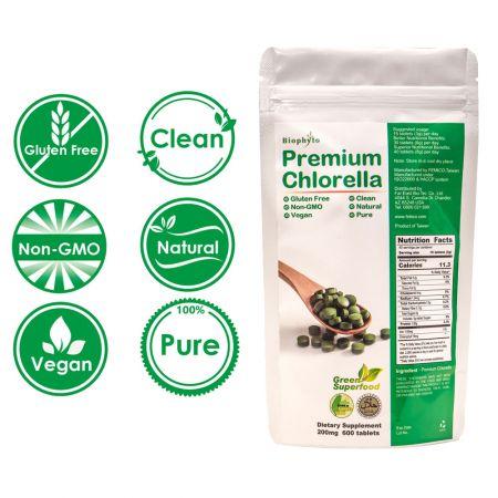 Comprimidos de chlorela Biophyto® Premium