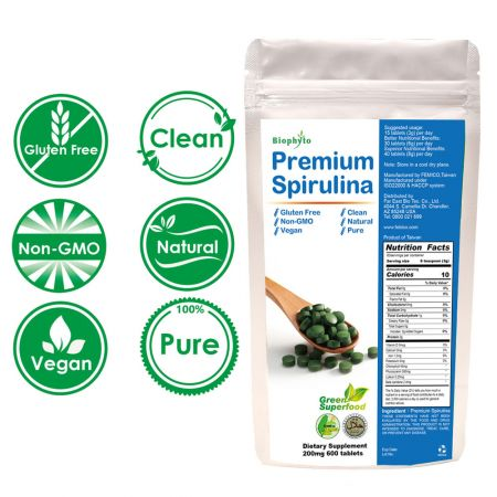 Biophyto® Premium Spirulina Tablets - Natural Spirulina Tablets