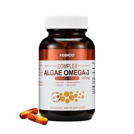 Capsule de ulei de alge DHA Omega-3 - Capsule de ulei de alge