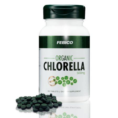 Febico Organic Chlorella 500mg Tablets - Broken Cell Wall Organic Chlorella Tablets