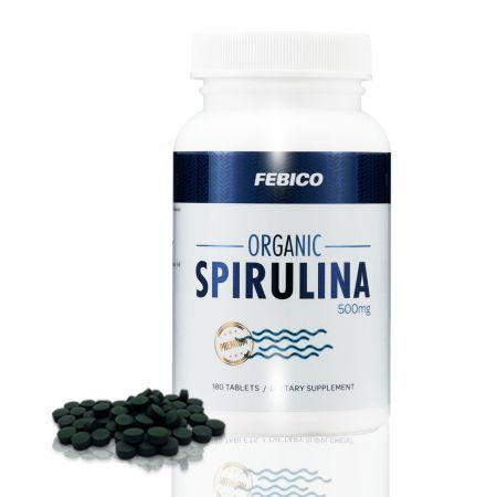 Febico Comprimate organice Spirulina 500mg - Tablete organice de Spirulina