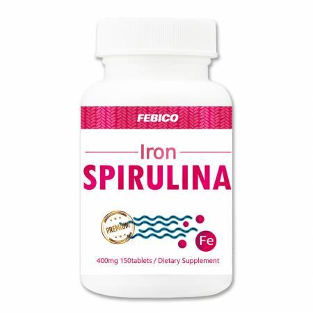 Febico Żelazna Spirulina - Tabletki Spirulina Żelazo Fe