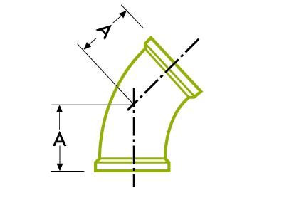 45º 엘보-위생 클램프 조인트