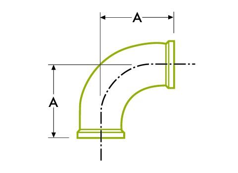 90º 엘보-위생 클램프 조인트