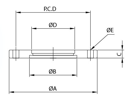 ISOボーリングブランクボルトフランジ