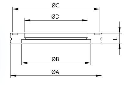 ISOボーリングブランクフランジ