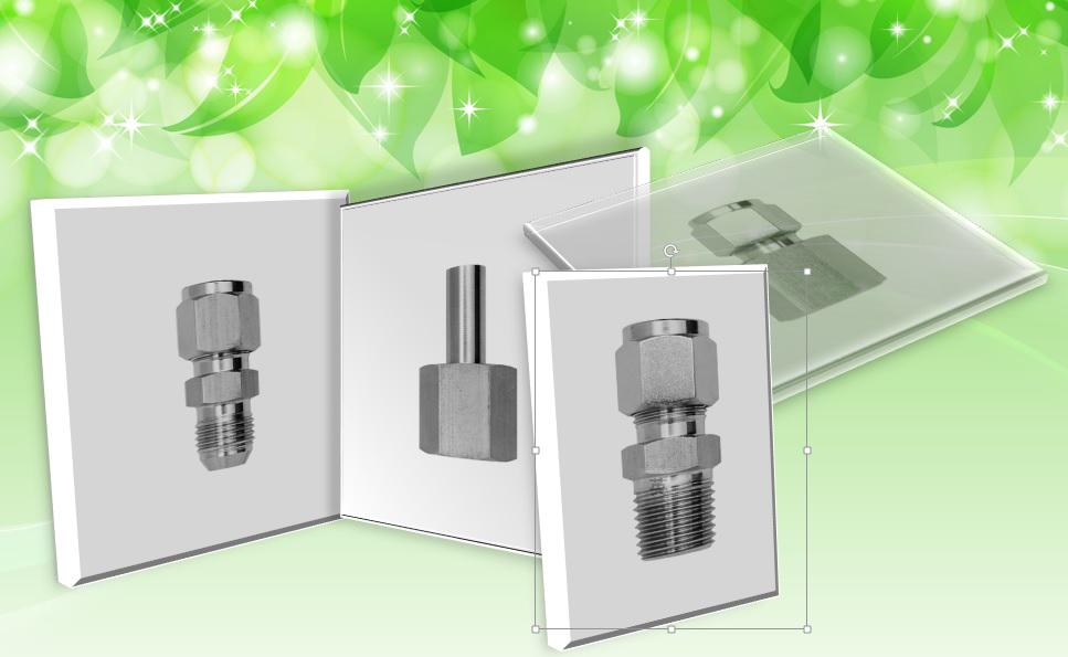 Straight configuration, compression tube fitting
