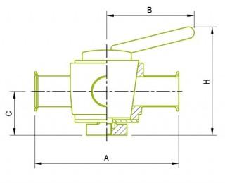 2방향 플러그 밸브