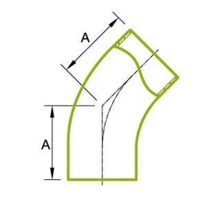 45°ロングチューブ 溶接式ベンド 3A