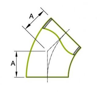 45° Short Tube Bend 1.5D 3A