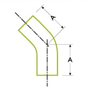 자동 튜브 용접 : 45º 엘보