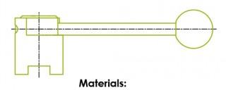 バタフライバルブ ハンドル
