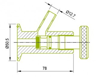 클램프 엔드 샘플 콕 밸브