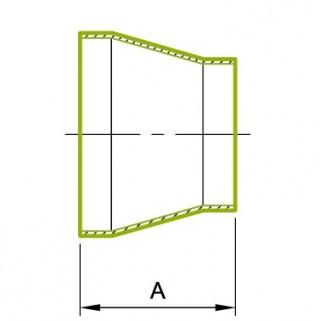 同心円 溶接式レジューサ ストレートエンド付き