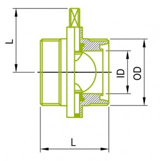 DIN 남성 버터 플라이 밸브