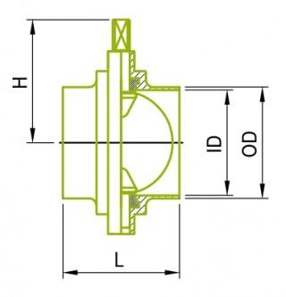 DIN溶接バタフライバルブ