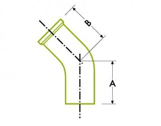 自動チューブ溶接:衛生的 クランプ ジョイント、45ºエルボー
