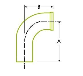 自動チューブ溶接:衛生的 クランプ ジョイント、90ºエルボ