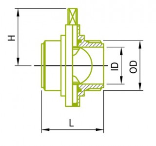 IDF Male Butterfly Valves