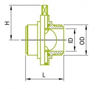IDF 수 버터플라이 밸브