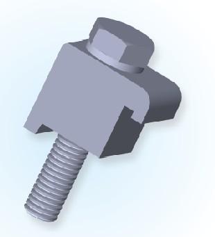 ISO Single Wall Clamp(Al)