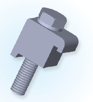 ISO Single Wall Clamp (Al)