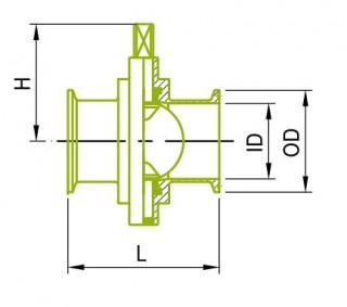 インチサイズ クランプ バタフライバルブ