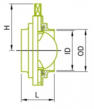 Inch Size Weld Butterfly Valves