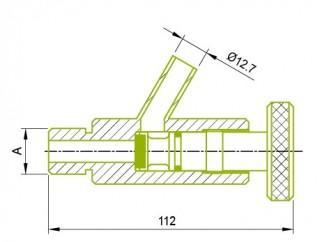 수형 샘플 콕 밸브