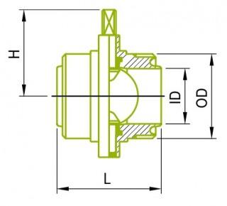 RJT 남성 버터 플라이 밸브