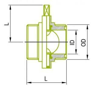 SMS 남성 버터 플라이 밸브
