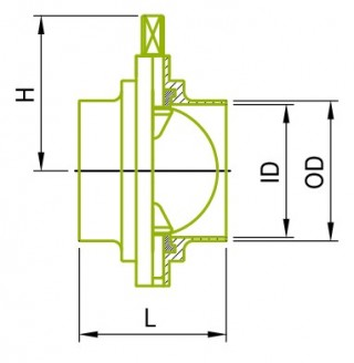 SMS 용접 버터 플라이 밸브