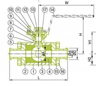 Sanitary 3 Way Ball Valve