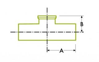 自動チューブ溶接:短い出口衛生 クランプ ジョイント 溶接式チーズ